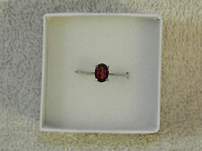 Mozambique Garnet Solitaire Sterling Ring size 6.75 (tgw1.0 cts)(D)