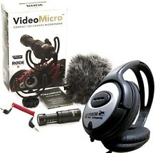 Rode Videomicro Microphone Directionnel Appareil Photo + Keepdrum Casque Audio