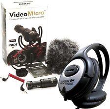 Rode videomicro direccional cámara micrófono + KEEPDRUM auriculares