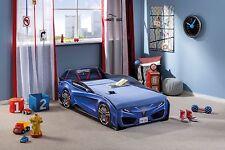Autobett CILEK Spider-Mini blau mit Matratze Kinderbett Spielbett TUV GS 70x130