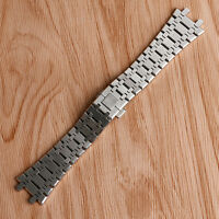 28 mm Silver Solid Stainless Steel Wrist Band Strap Men Bracelet For AP Watches