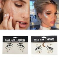 Face Eye Tattoo Sticker Eyebrows Body Art DIY Make-up Tags Party Festival