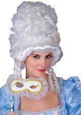 Vestido de Lujo María Antonieta Peluca Mascarada Baile de película de Cenicienta Blanco Victoriano