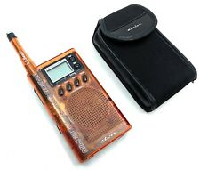 Etón Shortwave Radio Mini 300 World Band Receiver L.L. Bean Model Orange w/ Case