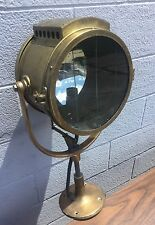 Rare Antique Brass Rushmore Dynamo Works Searchlight Nautical