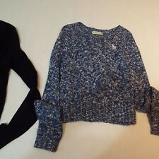 Lot 2 Women ladies navy blue cardigan size L sweater S by Abercrombie & Fitch