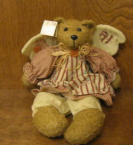 "Plush Angel Bear #HEF0294 14"" from Ohio Wholesale, NEW from Retail Store"