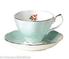 SET OF 4 Royal Albert NEW  POLKA ROSE TEA CUP SAUCER NEW