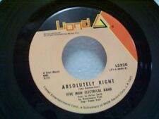 """FIVE MAN ELECTRICAL BAND """"ABSOLUTELY RIGHT"""" 45 MINT"""