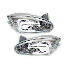 NEW 1997-1999 Hyundai Tiburon Headlight Assembly LH & RH SET Genuine Parts OEM