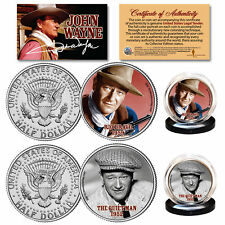 JOHN WAYNE 1959 Rio Bravo & 1952 The Quietman Genuine JFK Half Dollar 2-Coin Set