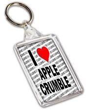 I Love Apple Crumble Keyring - Gift - Birthday - Christmas - Stocking Filler