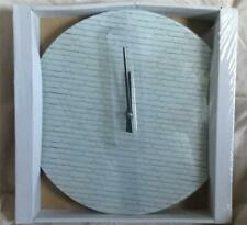 Round circular glass Grey 'Stone' 'Brick' pattern wall clock BNIB