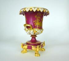 Rara porcelana jarrón urna para 1840 francia faisán b-109