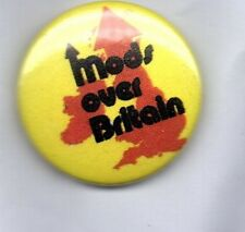 MODS OVER BRITAIN BUTTON BADGE - SCOOTER MOD SCENE RNB NORTHERN SOUL  25mm