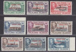 Falkland Islands Dependencies 1944 Graham Land Overprint 6d x2 Set Mint SG A1-A8