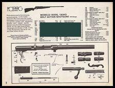 1997 MOSSBERG Model 183DG, 183KD Shotgun Parts List AD