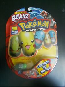 Mighty Beanz Pokemon Advanced 5 Pack New, #20 Grovyle Bean On Front, Spin Master