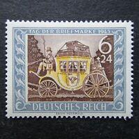 Germany Nazi 1943 Stamp MNH Mail Coach Stamp Day WWII Third Reich German Deutsch