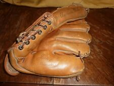 Vintage Junior Gilliam Baseball Glove Leather Franklin F123 1950s RHT Dodgers