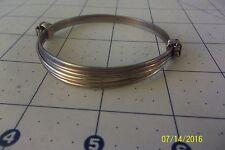 Two or 2 knot African Elephant hair style Bracelet light dark brass copper