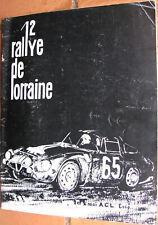 D367 : RALLYE DE LORRAINE : 1965 : 1 X REGLEMENT : 44 PAGES : FORMAT 21 X 27 CM