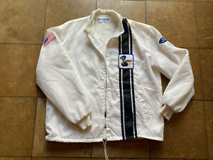 Vintage Ford Mustang Cobra Shelby Racing White Lined Jacket Men/Adult XL