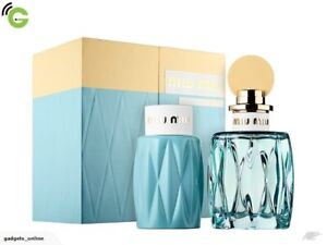 Miu Miu L'eau Bleue Eau De Parfum Spray Gift Set 100ml Spray & Body Lotion