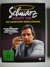 4 DVDs im Schuber SCHWARZ GREIFT EIN (Staffel 1 eins) Klaus Wennemann G. Strack