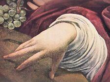 1960 Art Print Hand Of Lute Player Musicians Michelangelo Merisi da Caravaggio