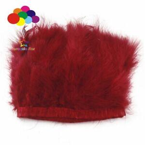 Marabou Fluffy Turkey Feather Trimming Border Fringe Satin Ribbon Costume Sewing