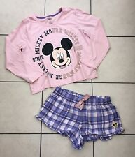 Primark Disney Pink Purple Mickey Mouse Shortie Pyjamas Size 14 - 16 #NT2