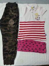 Lotto 616 stock pantaloni maglietta bimba bambina 8/10 anni