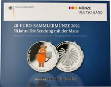 20 Euro Deutschland BRD 2021 PP Spiegelglanz 50 Jahre die Sendung mit der Maus