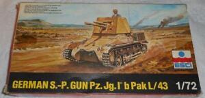 ESCI 1/72 WW2 German Self Propelled Gun Pz.Jg.I b Pak L/43 Plastic Model # 8046
