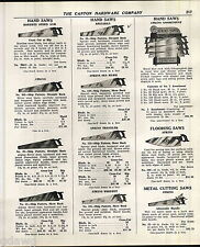 1939 ADVERT Atkins Hand Saw Hardware Store Display Rack Stair Builders' Saws