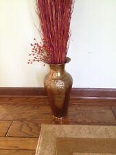 Brass Vase  - 15 inches Tall - Decorative Vase