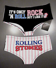 The Rolling Stones Damen Slip S 36-38 Panty USA Tongue Hipster Shorts Zunge Neu
