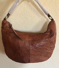 Nwt Women's Frye Leather Veronica Zip Hobo Bag Purse, Cognac, MSRP $398.00