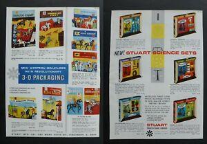 Vtg RARE 1960 Dealer Ad - Stuart Western Miniature Play Set, Science 1960's Toy
