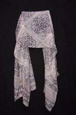 Rose Ashes & Charcoal Floral Motives Pattern Print Sheer Scarf Casual Wear S175A