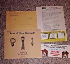 Advertising Packet OLD BEDFORD CLOCK CO Westport MA 1971 catalog price list ++