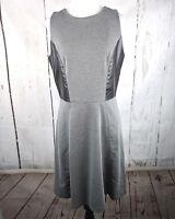 Womens BANANA REPUBLIC Sleeveless A Line Dress Gray Heather Size 8 Career