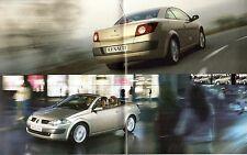 Renault Megane CC Coupe Cabriolet 2003-04 UK Market Brochure Dynamique Privilege