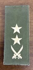 OEF Afghan Army Afghanistan Rank Patch For LT COL - Theatre Made W/ Hook & Loop