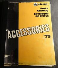 1975 SKI-DOO SNOWMOBILE ACCESSORIES PARTS MANUAL USED (204)
