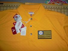 MENS LARGE GOLD ANTIGUA STEELERS ADORNED POLO SHIRT - NWT