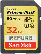 SanDisk 32GB SDHC Extreme PLUS SD 32 GB memory card class 10 80MB/s SDSDXS-032G