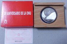 ESPAÑA año 1995. 2.000 Pesetas Plata. Peso 27 gr. 50 ANIVERSARIO DE LA ONU.