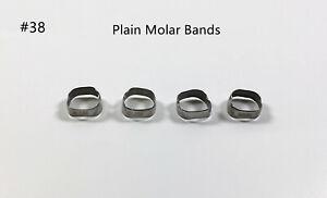 2~50Bags Molar Plain Band Rough Inner Dental Bracket Orthodontic Bands #38
